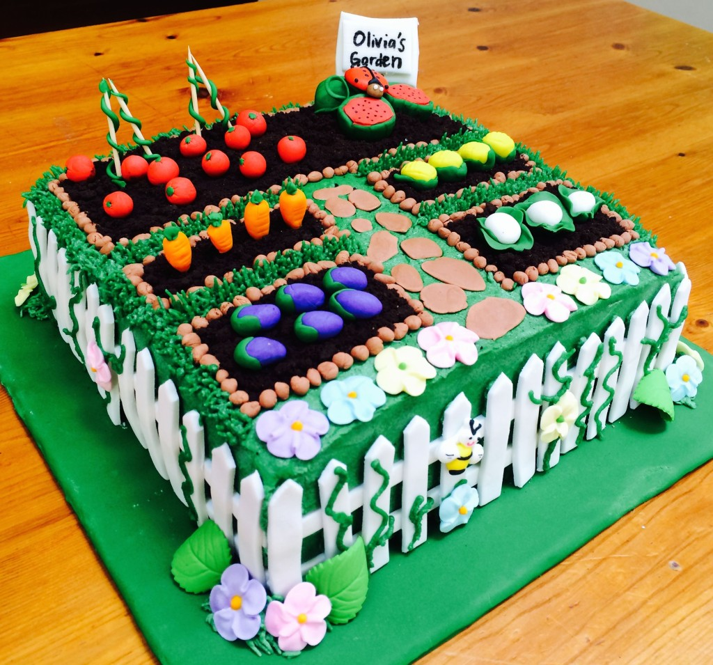 Vegetable And Fruit Garden Cake