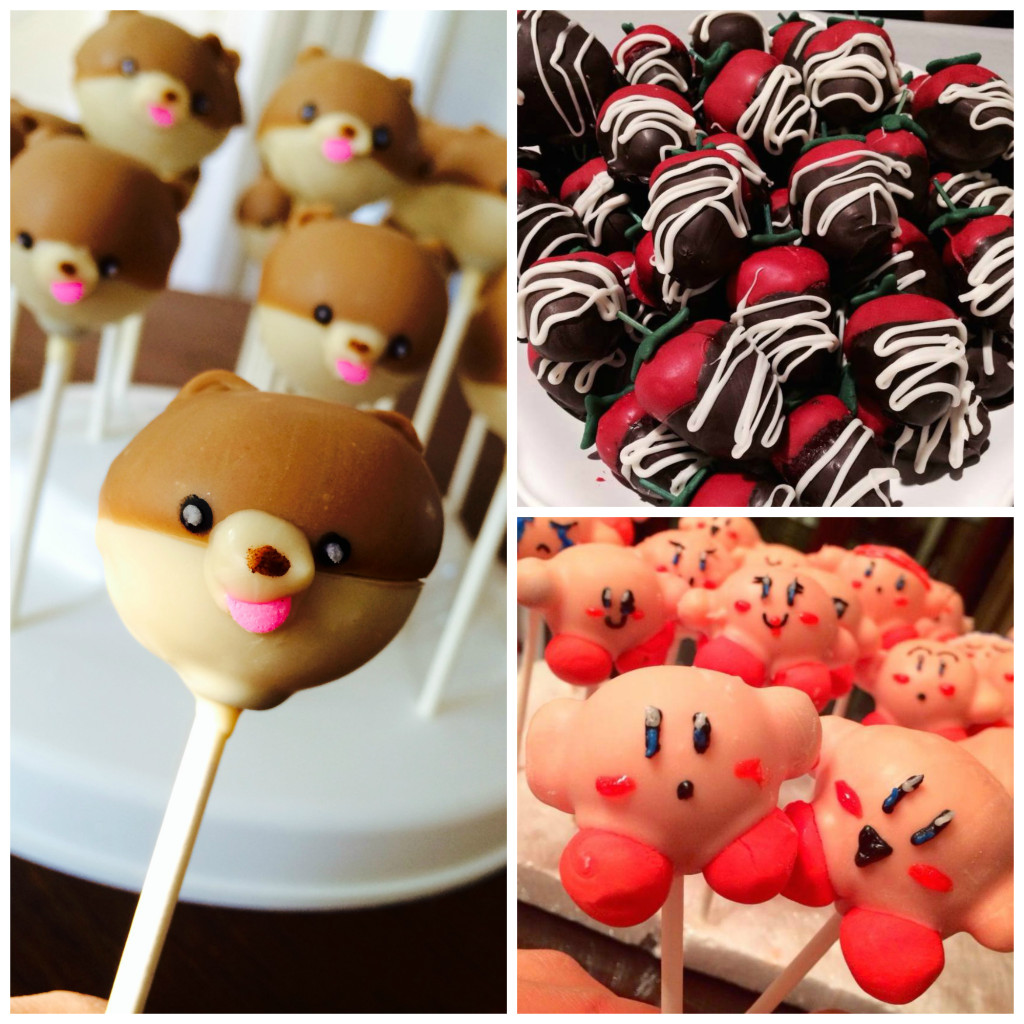 """Kirby"" and ""Boo"" Love to Eat ""Strawberry"" Cake Pops"