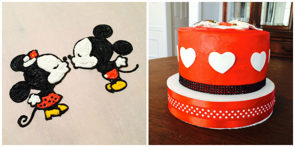 Mickey And Minnie Mouse Love Cake