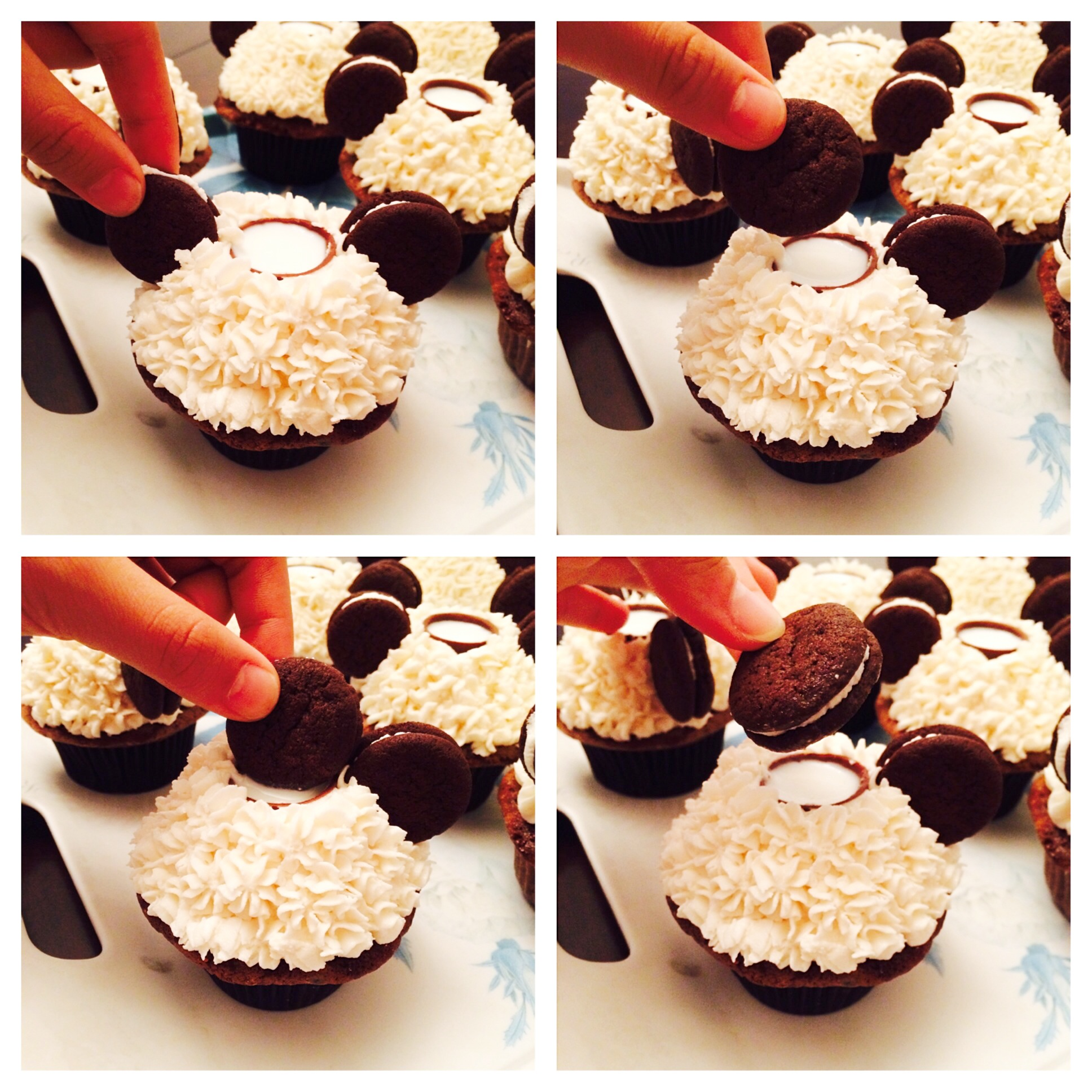 Oreo Cupcakes With A Built-In Cup For Milk Recipe — Dishmaps