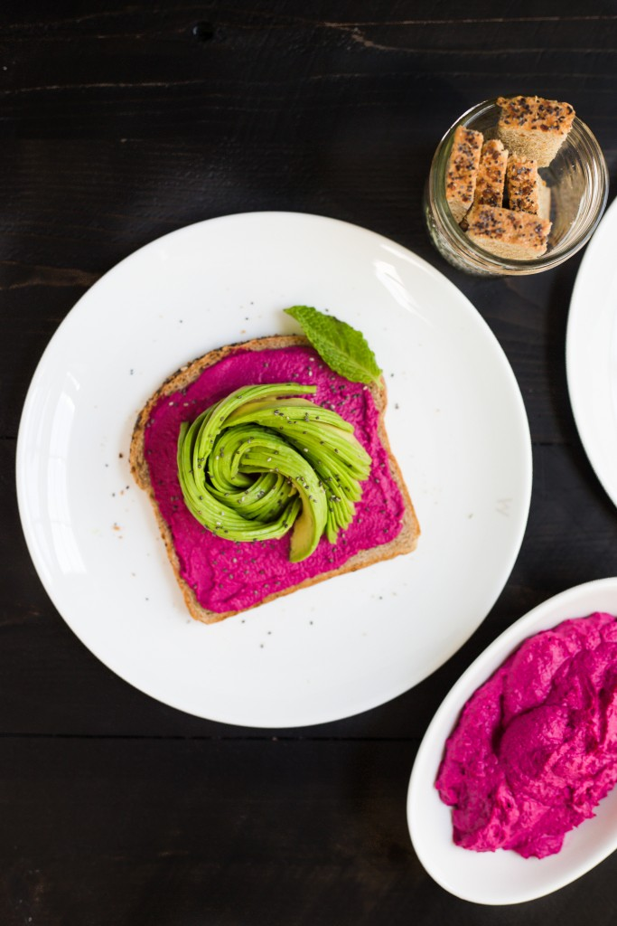 Roasted Beetroot Hummus with Spanish Paprika